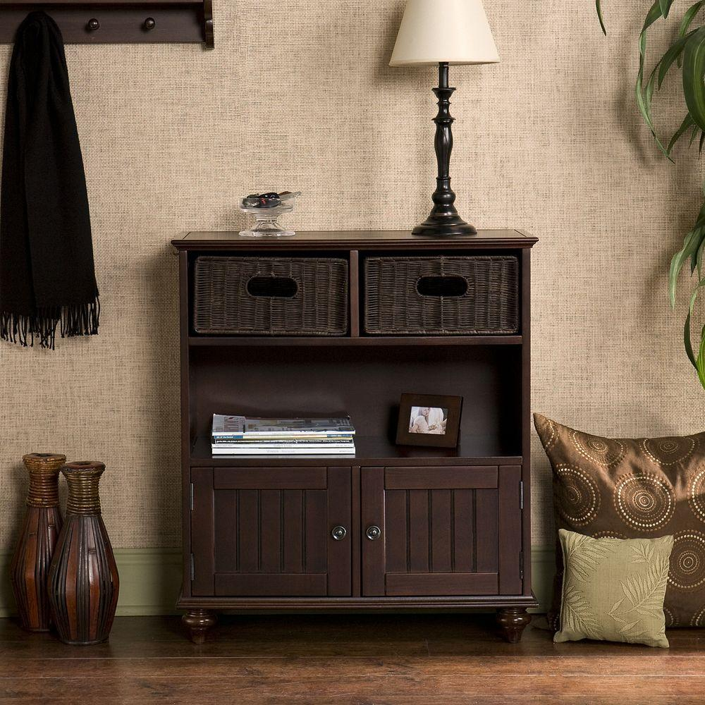 Southern Enterprises Torrey Entryway Console in Espresso-HD888545 - The Home