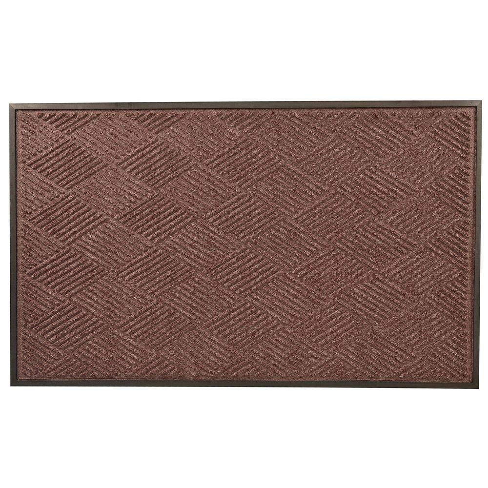 Opus Burgundy 36 in. x 120 in. Rubber-Backed Entrance Mat