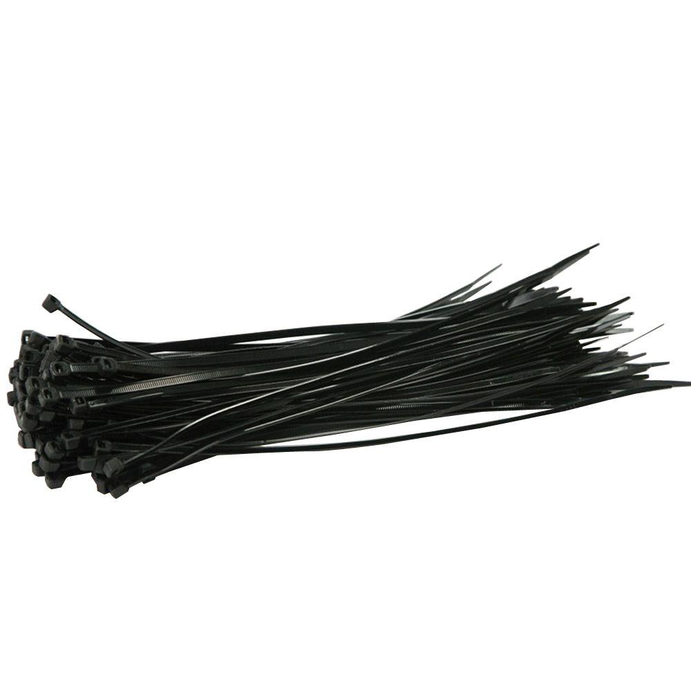 BOEN 11 in. Black Nylon Cable Ties (500-Pieces)