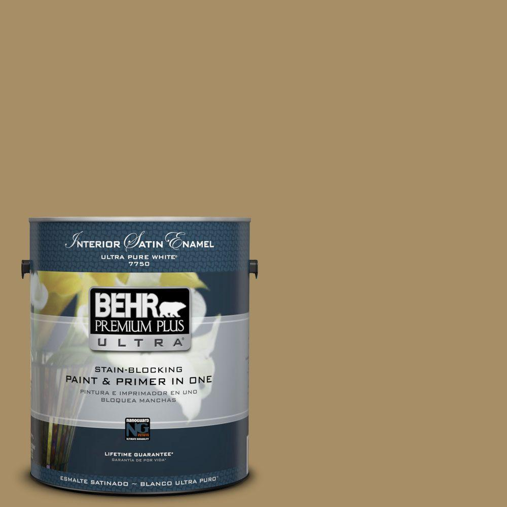 1-gal. #350F-6 Fossil Butte Satin Enamel Interior Paint
