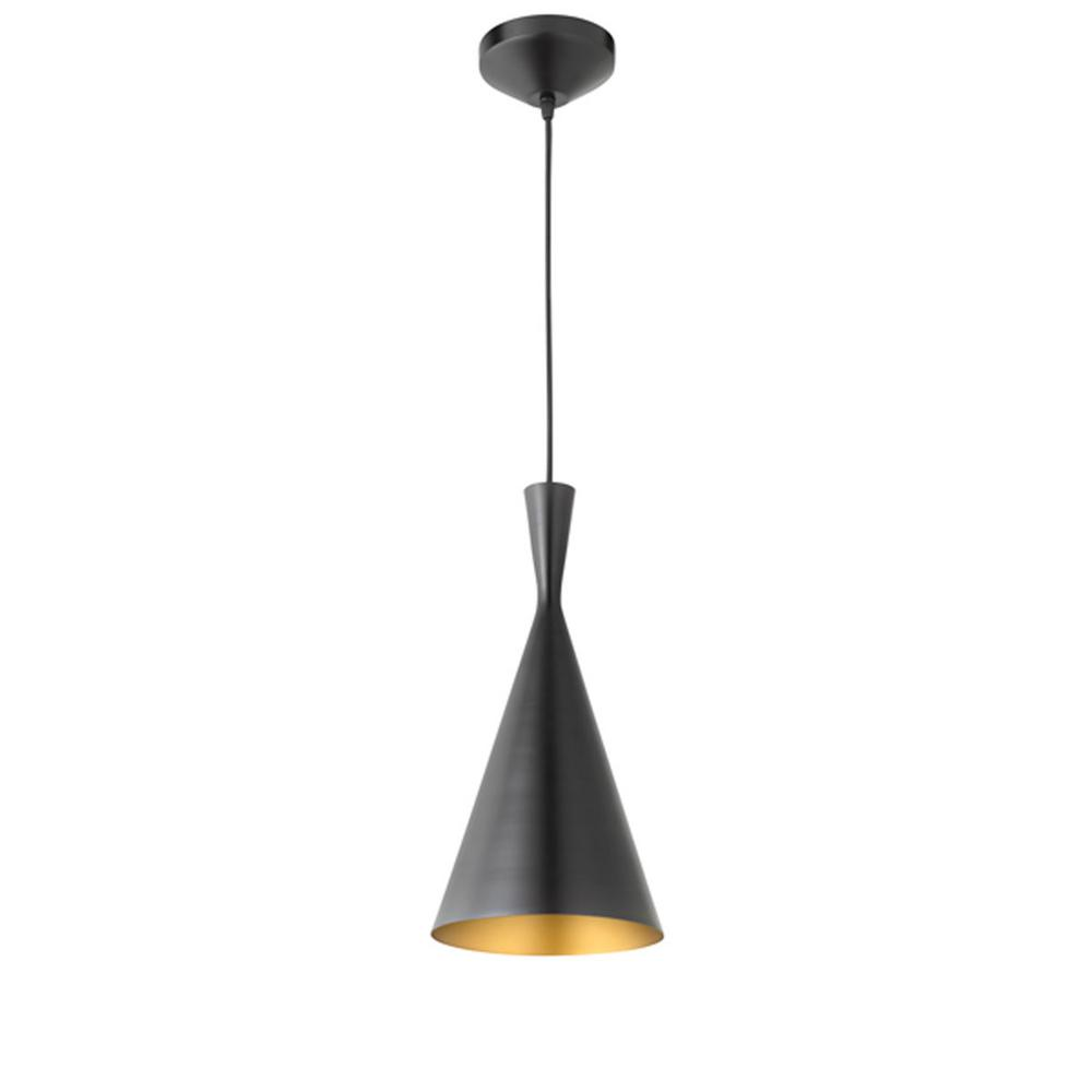 Mira 1-Light 80 in. Oil Rubbed Bronze and Gold Hourglass Pendant