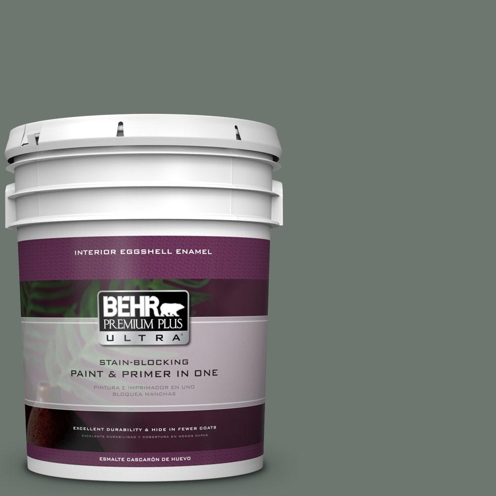 BEHR Premium Plus Ultra 5 gal. #T17-13 In the Woods Eggshell