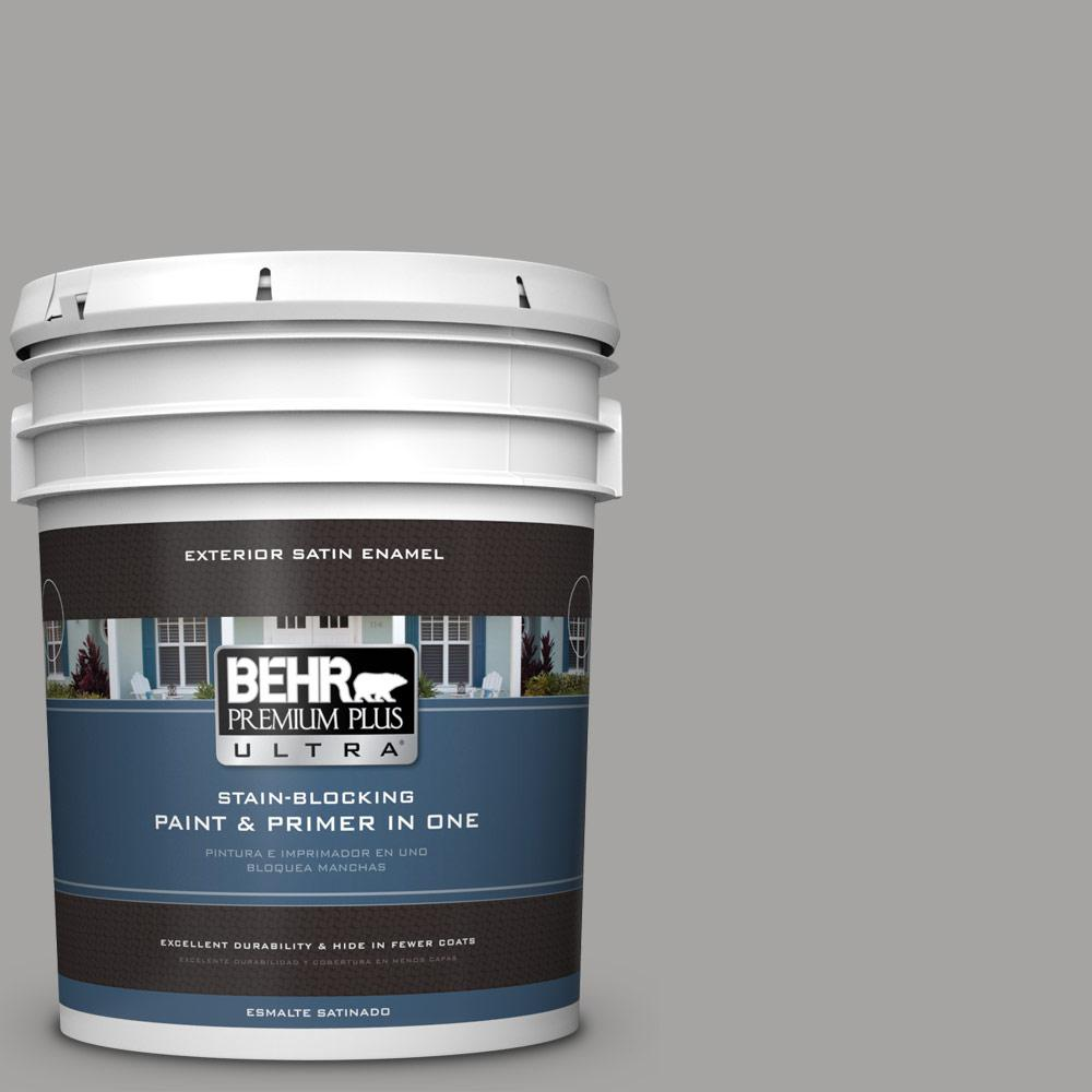 BEHR Premium Plus Ultra 5 gal. #PPU26-07 Smokey Wings Satin Enamel