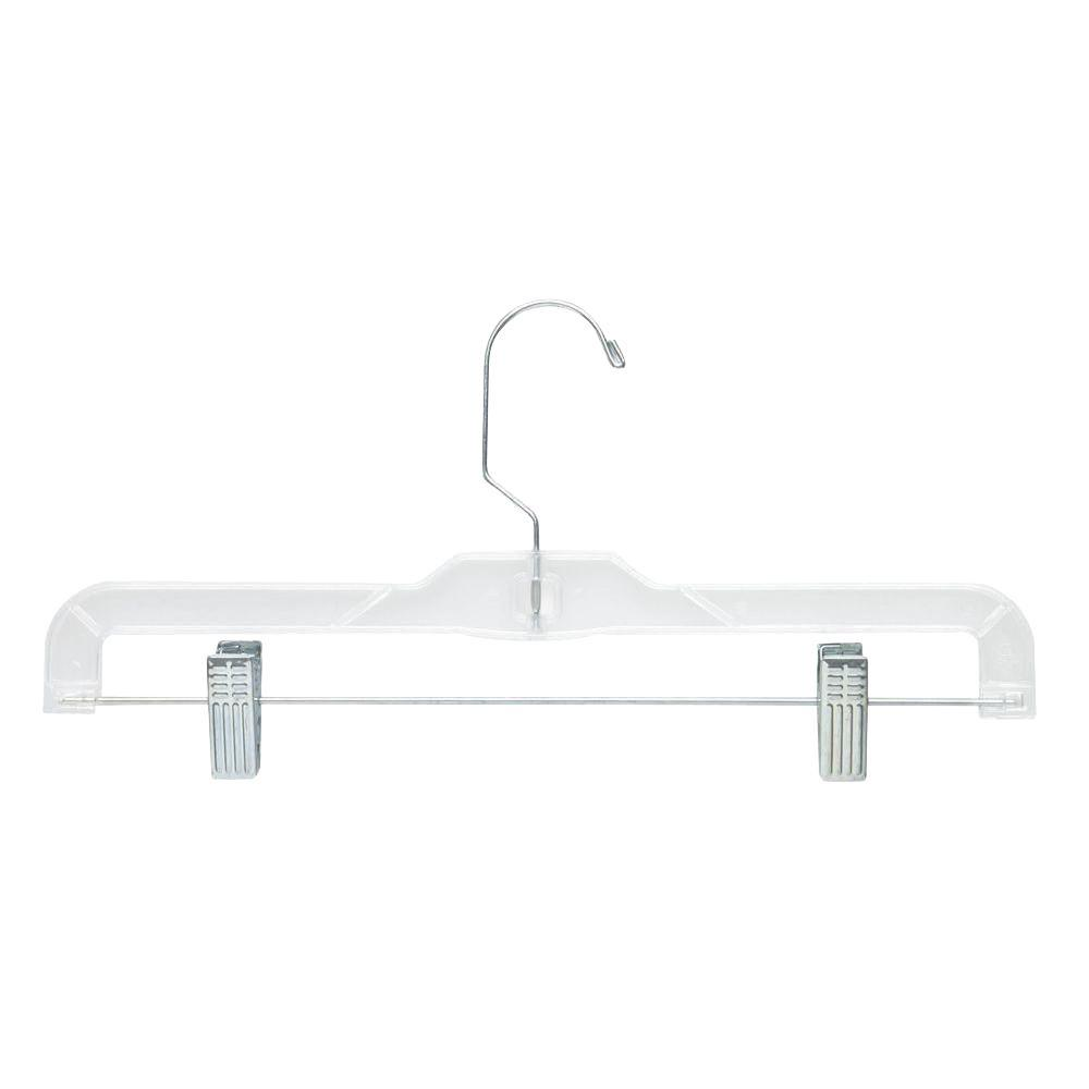 Crystal Clear Skirt and Pant Hangers (12-Pack)