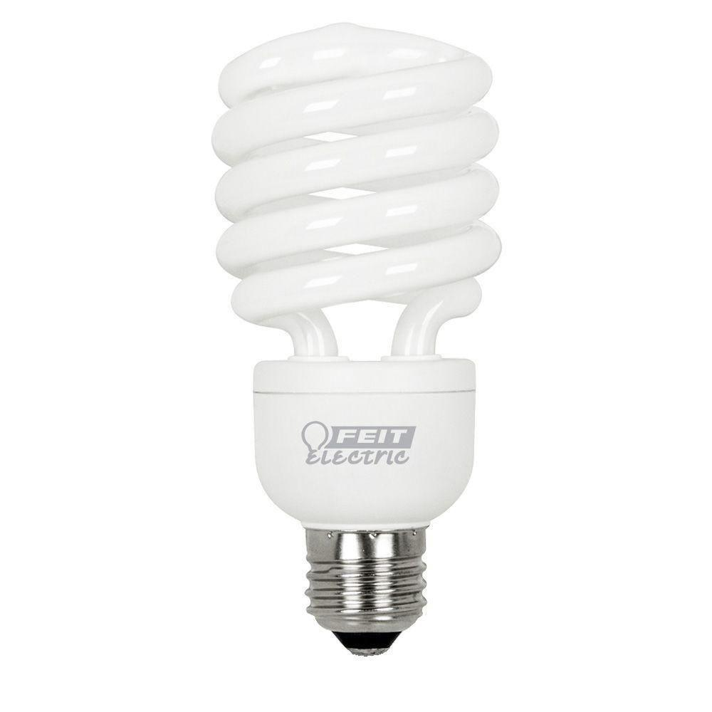 Feit Electric 100W Equivalent Soft White (2700K) Spiral Dimmable CFL Light Bulb (12-Pack)