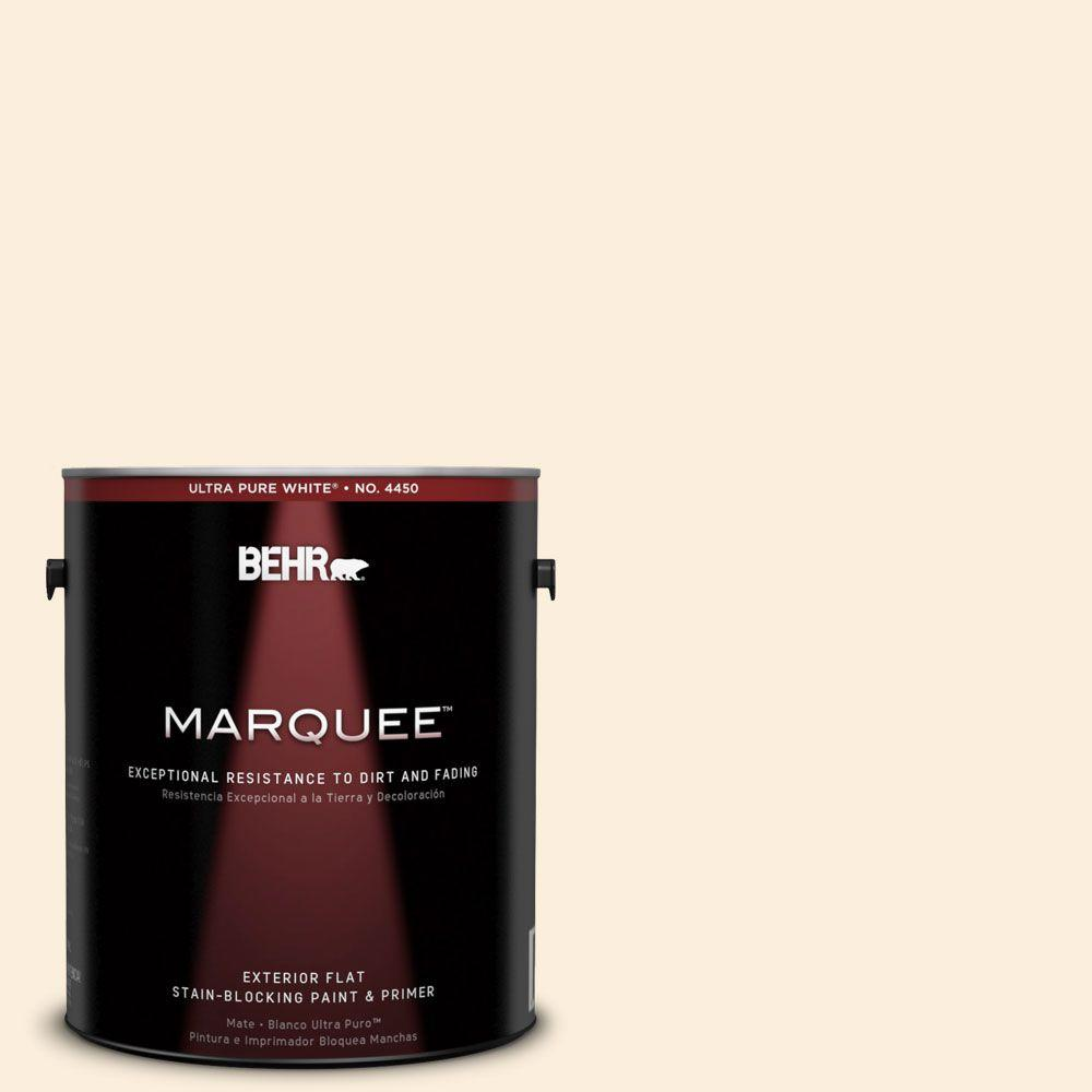 BEHR MARQUEE 1-gal. #310E-1 Cancun Sand Flat Exterior Paint-445001 - The