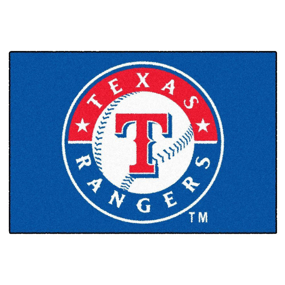 FANMATS Texas Rangers 19 in. x 30 in. Accent Rug