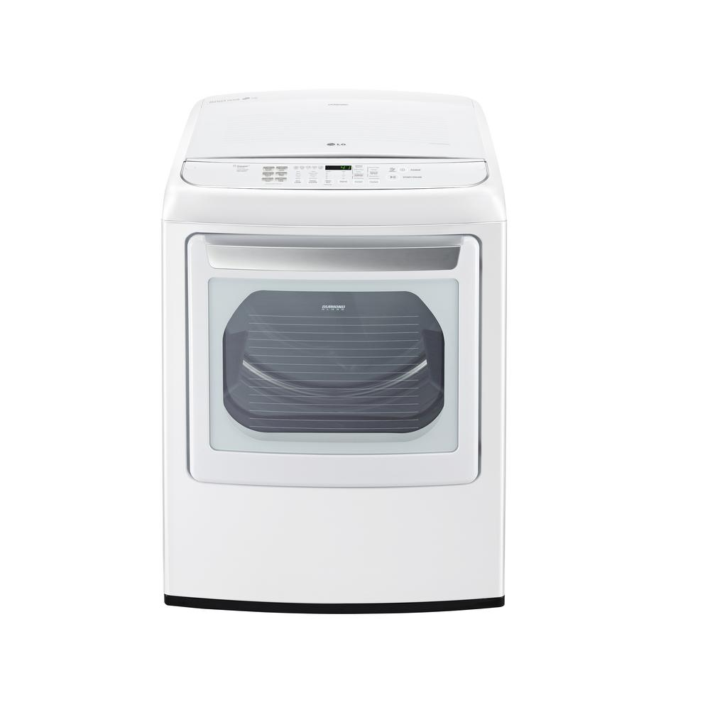 7.3 cu. ft. Gas Dryer with Steam in White, ENERGY STAR