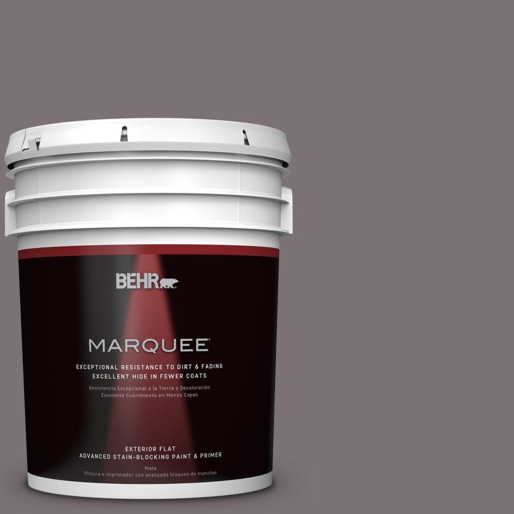BEHR MARQUEE 5-gal. #PPU17-18 Echo Flat Exterior Paint-445305 - The Home