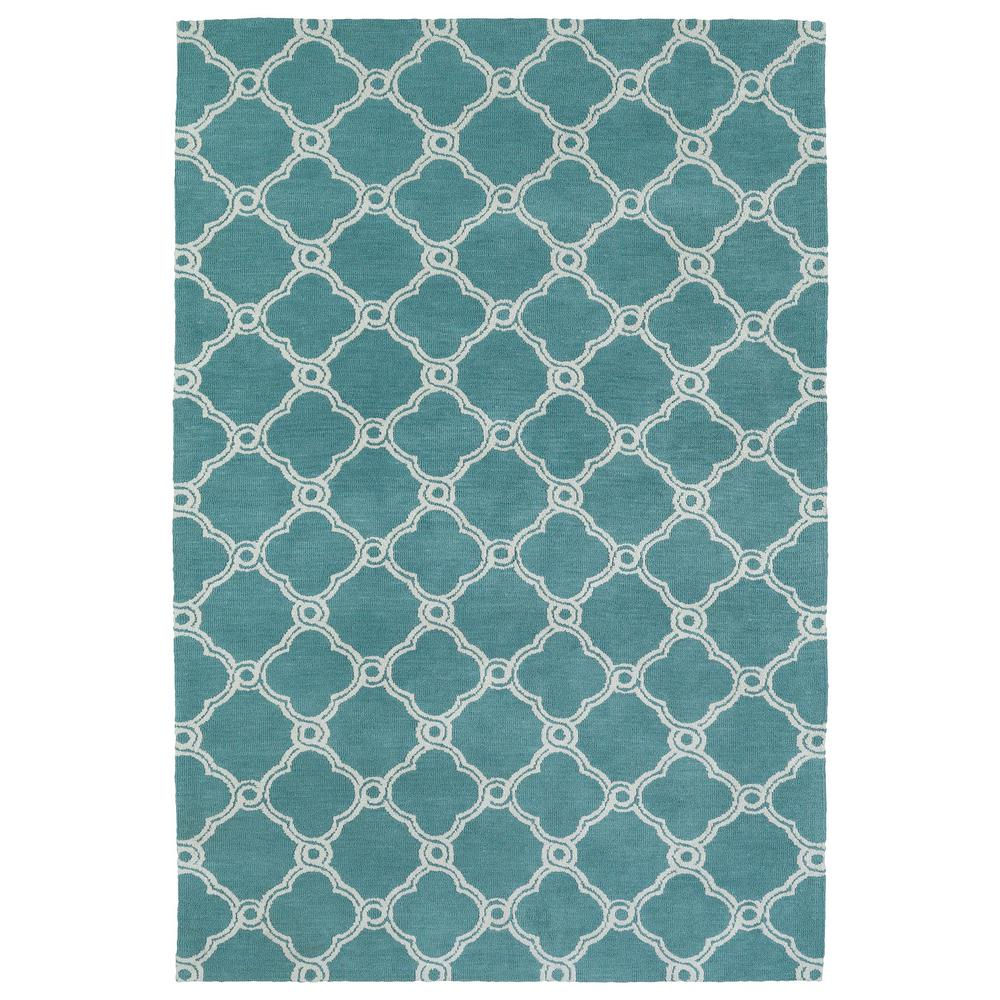 Cozy Toes Turquoise 9 ft. x 12 ft. Area Rug