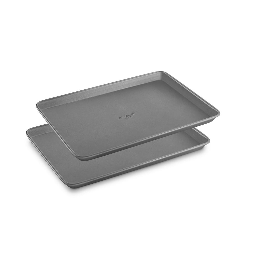 Select 12 In. X 17 In. Nonstick Classic Jelly Roll Pan Bakeware Combo Set 2 Piece, Silver