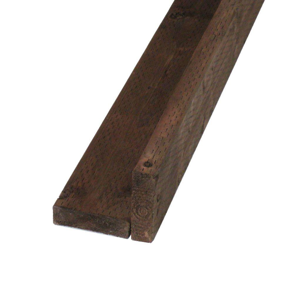 Pressure-Treated Lumber DF Brown Stain (Common: 2 in. x 6 in.