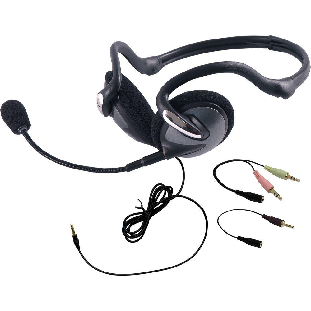 GE VoIP All-In-One Foldable Headset, Black