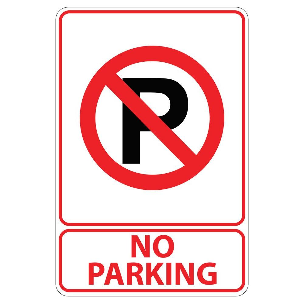 Rectangular Plastic No Parking Sign-PSE-0060 - The Home Depot