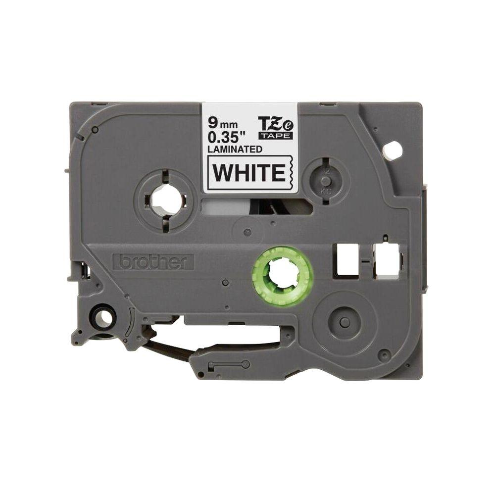 9 mm Black on White Tape for P-Touch 8 m