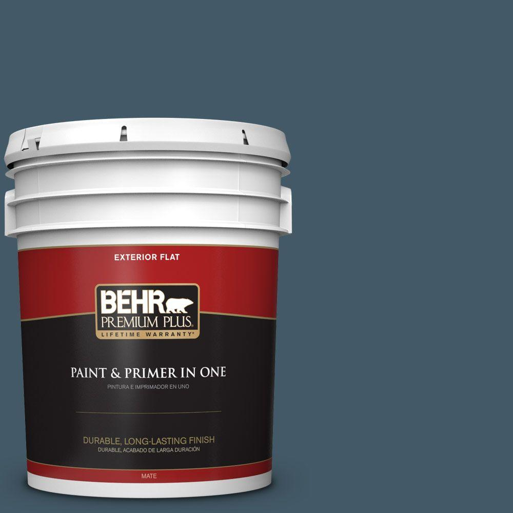 5-gal. #S480-7 Midnight in the Tropics Flat Exterior Paint