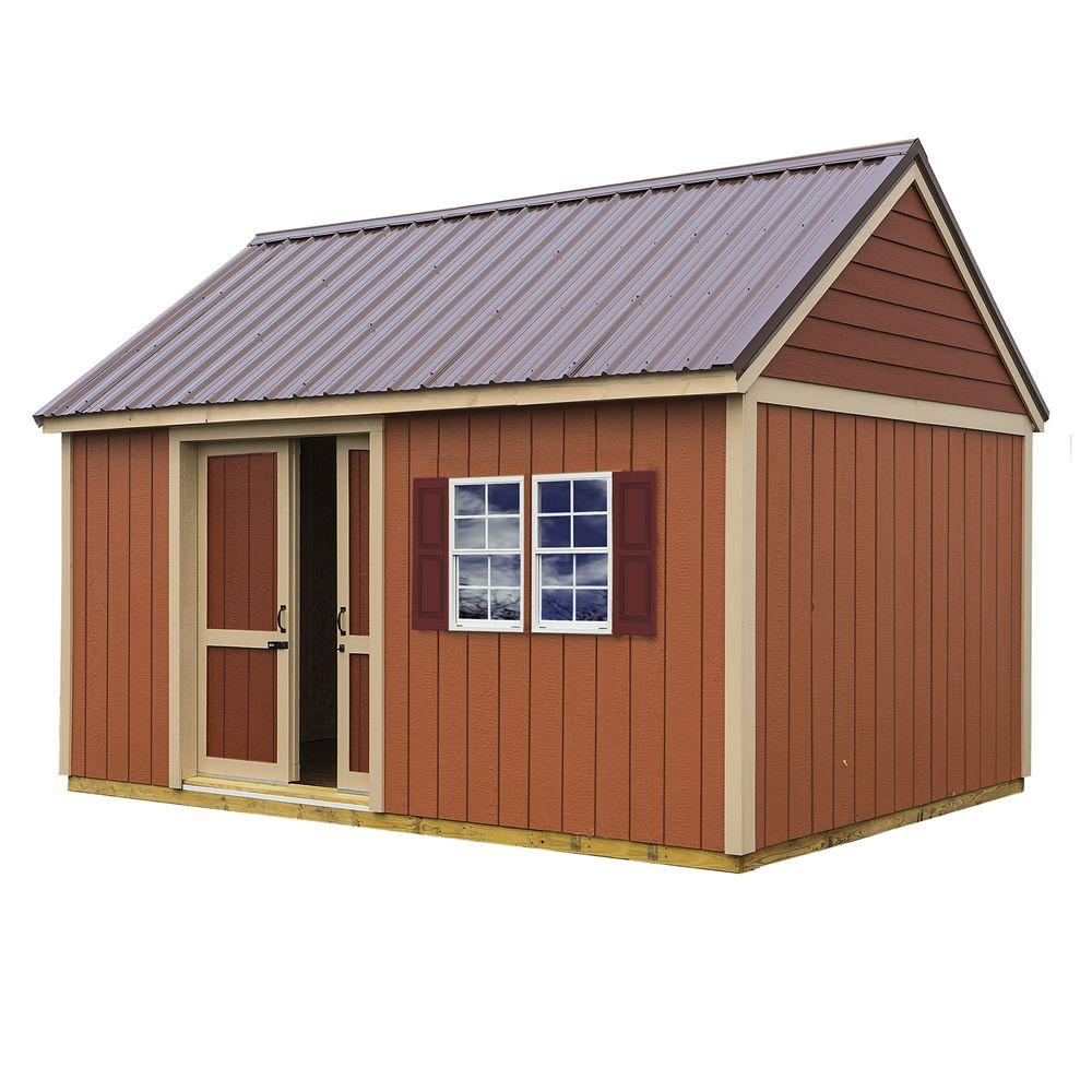 Brookhaven 10 ft. x 16 ft. Storage Shed Kit with Floor