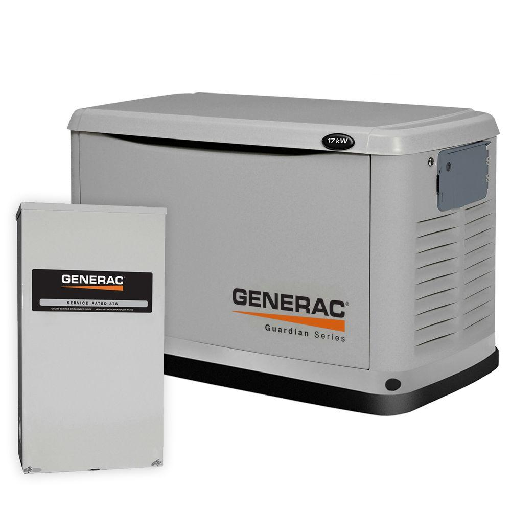 17,000-Watt Air Cooled Automatic Standby Generator with Transfer Switch