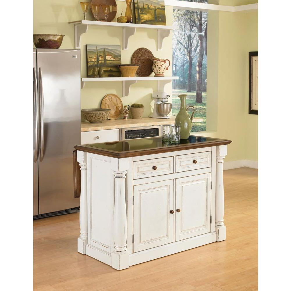 Oak Kitchen Island With Granite Top Home Styles Monarch White Kitchen Island With Seating 5021 948