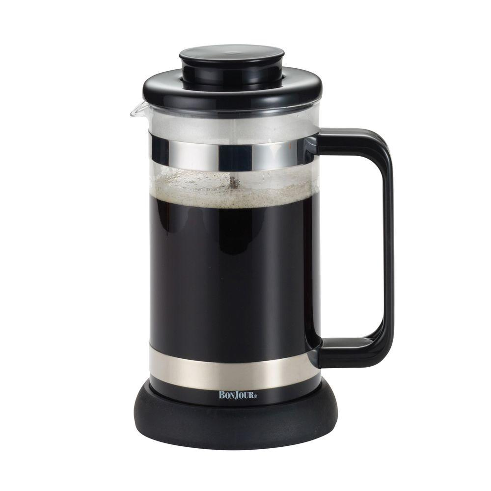 Coffee & Tea 8-Cup Riviera French Press with Coaster and Scoop