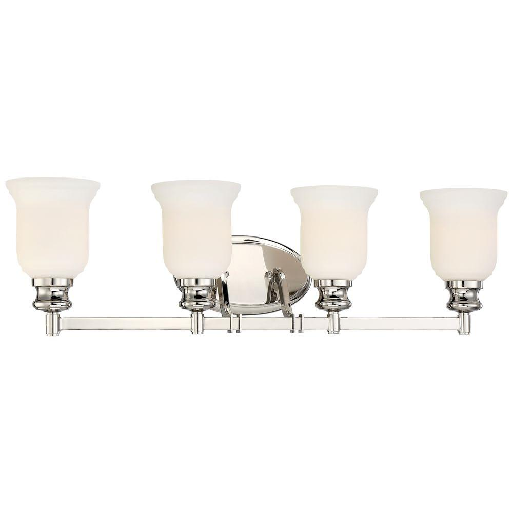 Audreys Point 4 Light Polished Nickel Bath Vanity Fixture