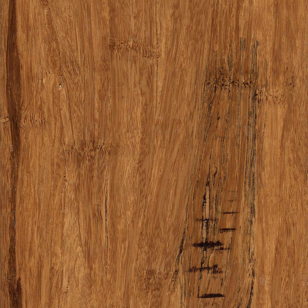 Hand Scraped Distressed Strand Woven Hazelnut 3/8 in. x 5-1/8 in.