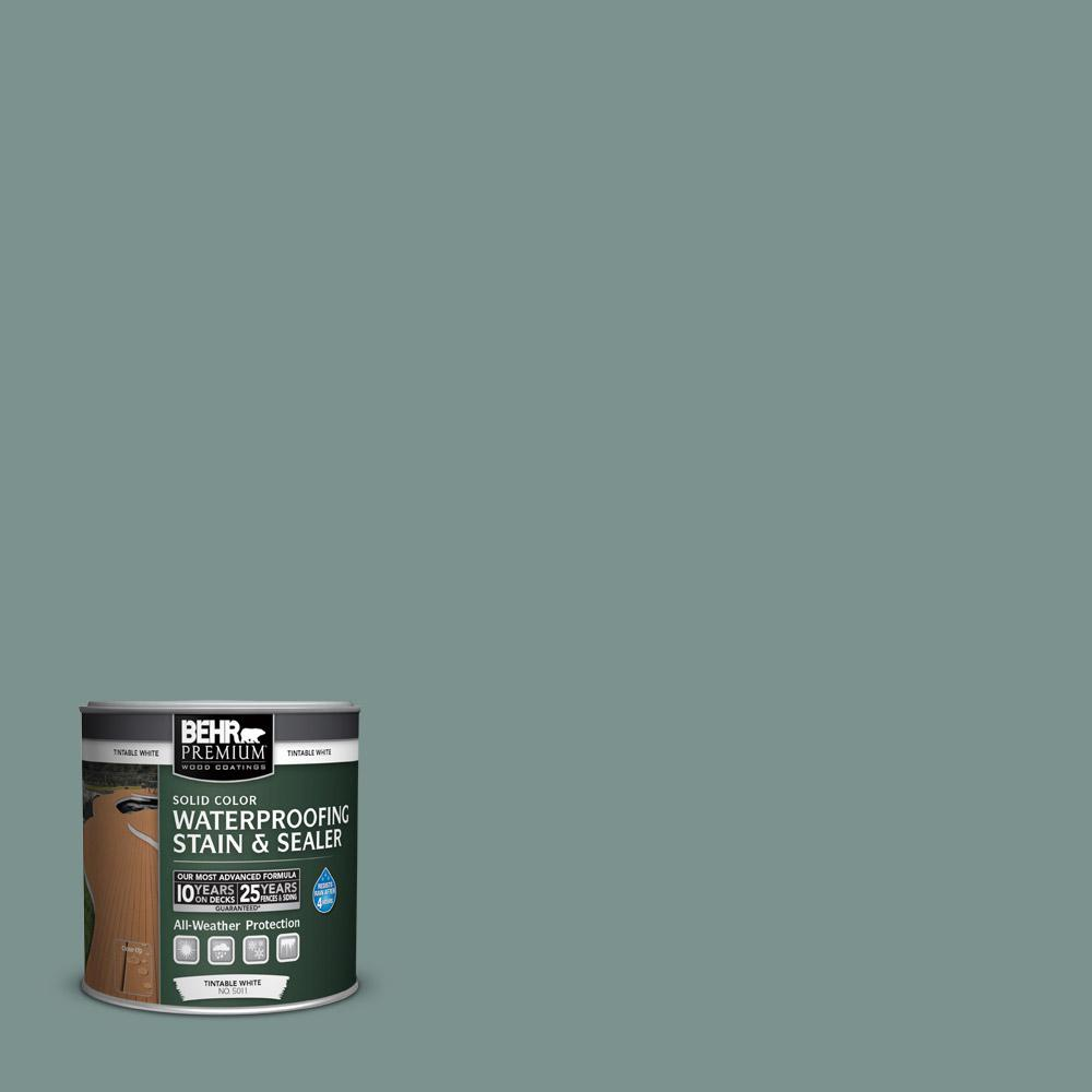 BEHR Premium 8 oz. #SC119 Colony Blue Solid Color Waterproofing Stain and Sealer Sample