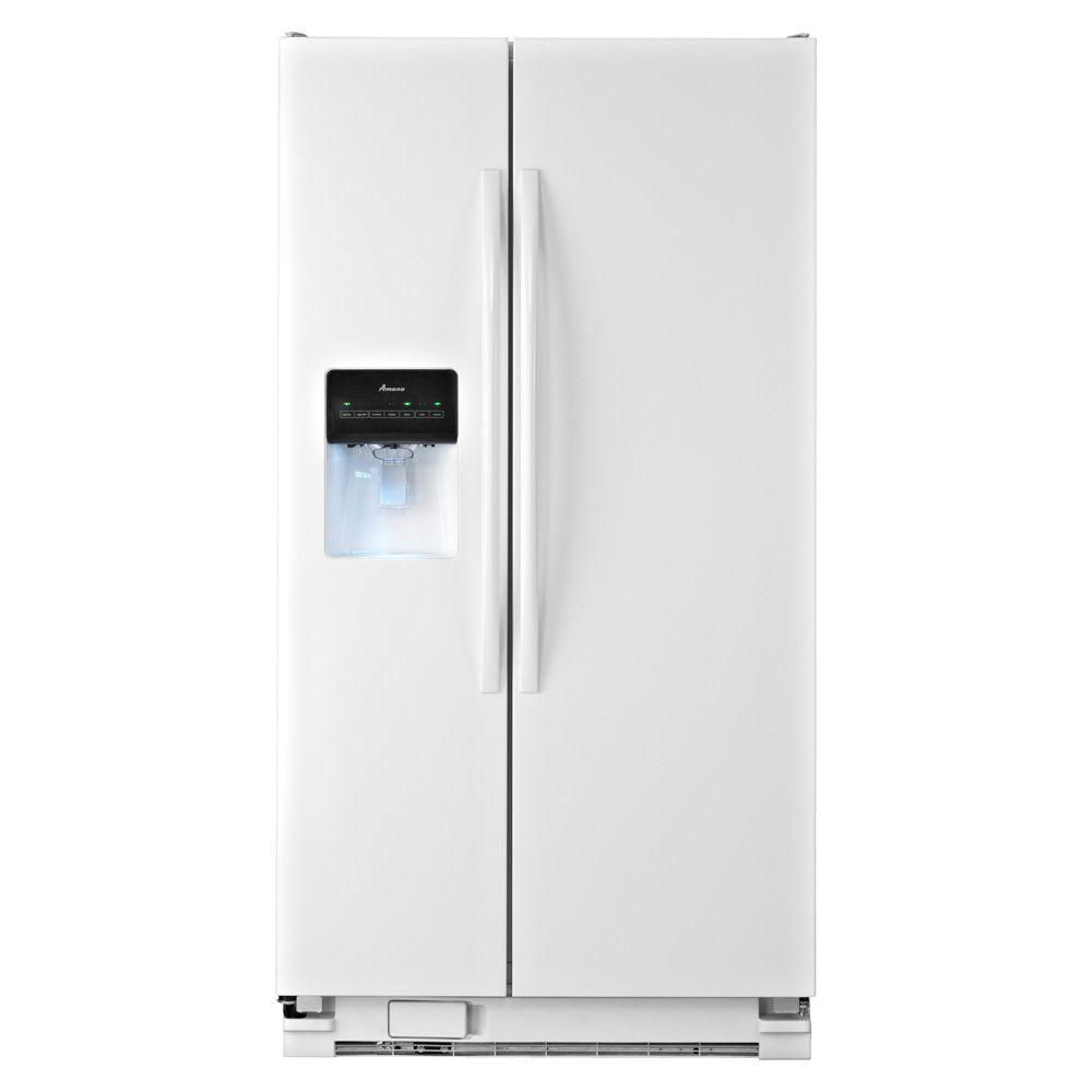 Amana 24.5 cu. ft. Side by Side Refrigerator in White