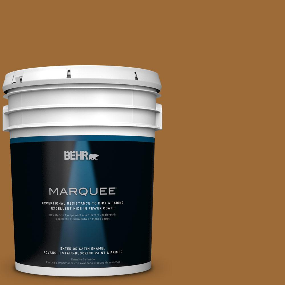 BEHR MARQUEE 5-gal. #PPU6-1 Curry Powder Satin Enamel Exterior Paint