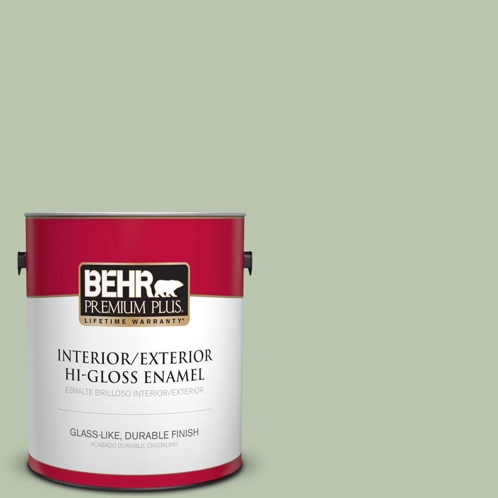 1 gal. #PPU11-10 Whitewater Bay Hi-Gloss Enamel Interior/Exterior Paint