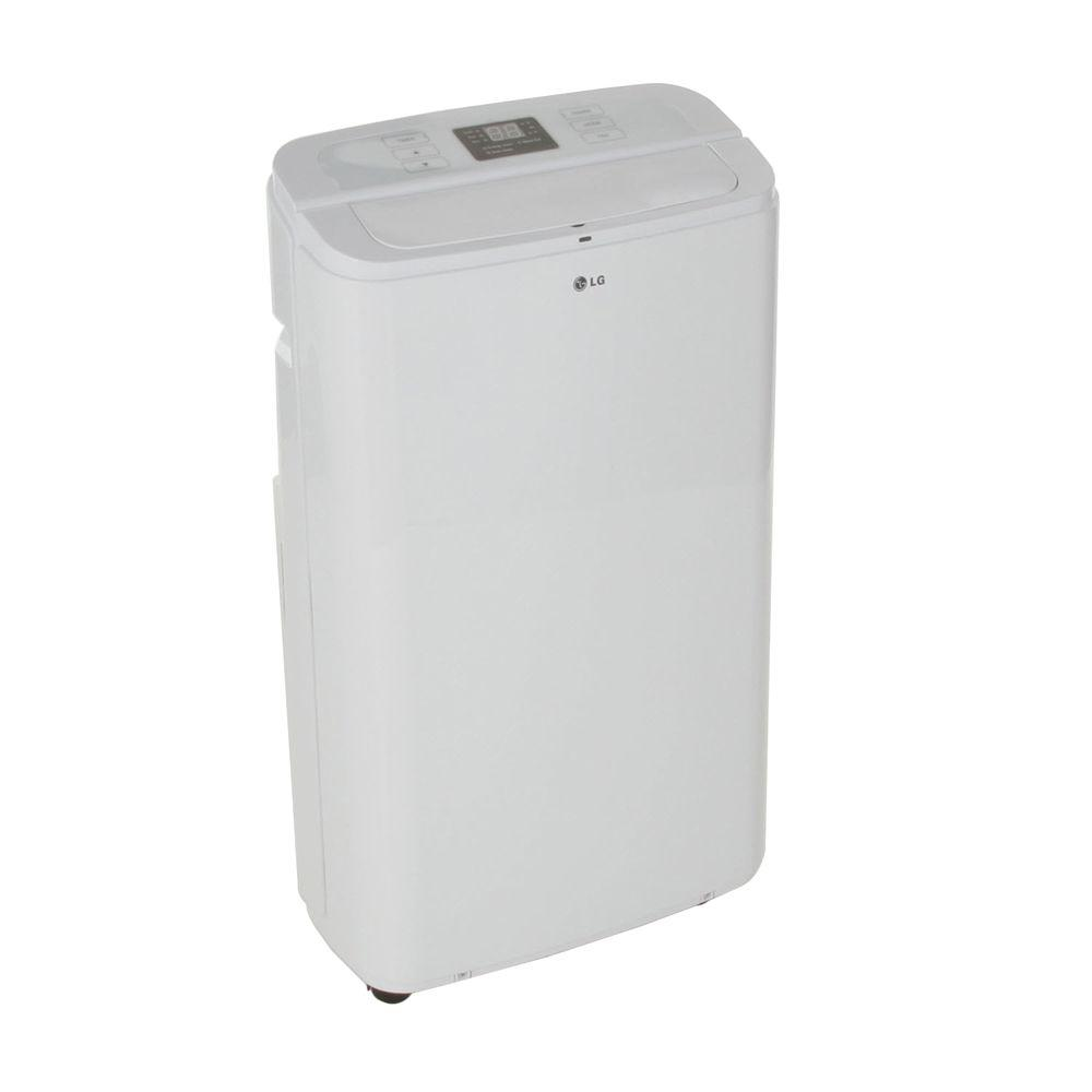 LG Electronics 11,000 BTU Portable Air Conditioner with Dehumidifier Function (74 Pint/Day) and Remote Control