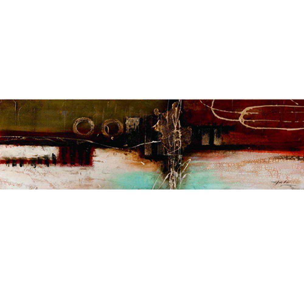 Yosemite Home Decor 59 in. x 20 in. Upside Down Sunset Hand Painted Contemporary Artwork