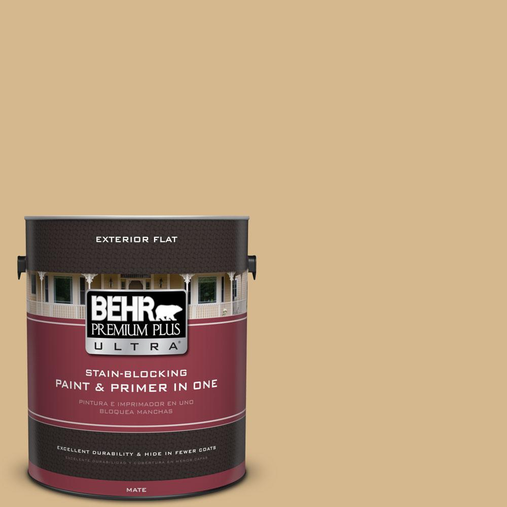 1-gal. #BXC-34 Mineral Yellow Flat Exterior Paint