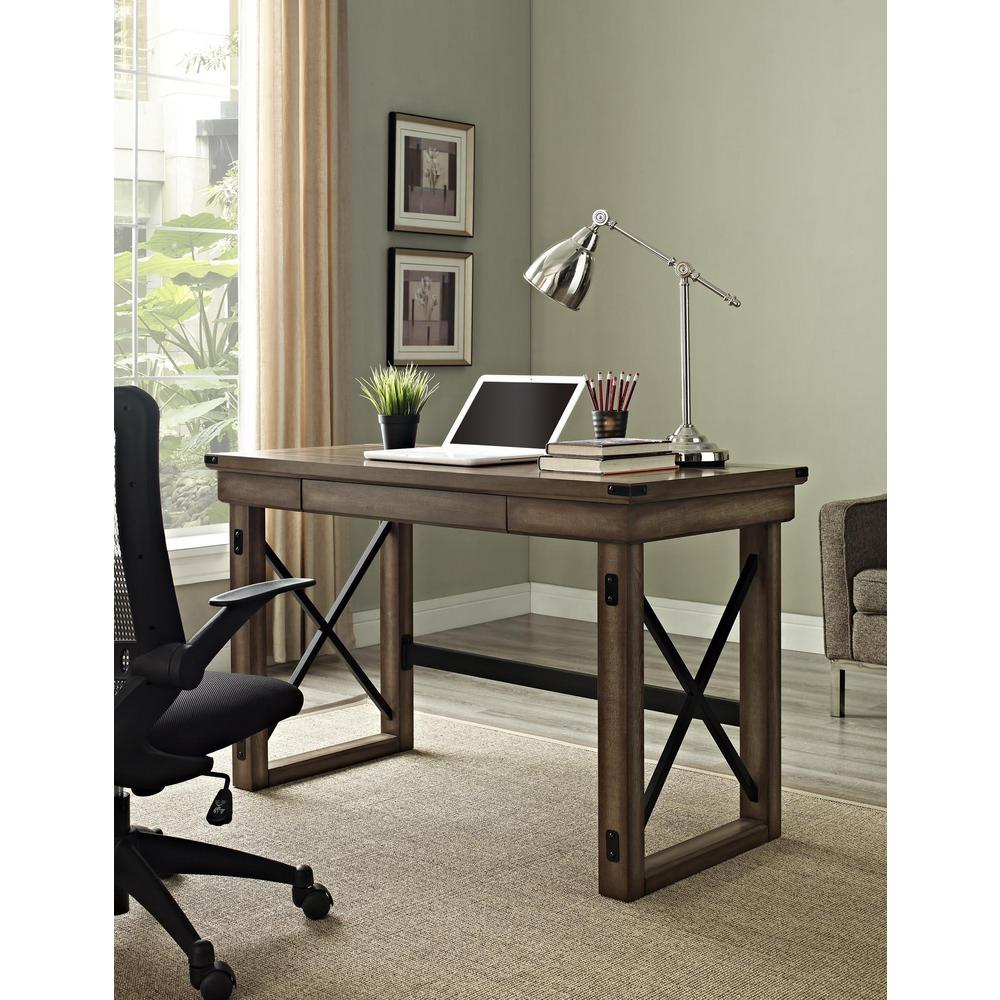 Altra Furniture Wildwood Rustic Gray Desk With Storage