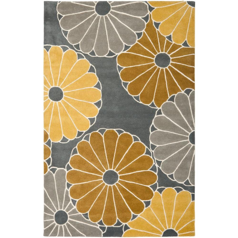 Soho Grey/Yellow 7 ft. 6 in. x 9 ft. 6 in.