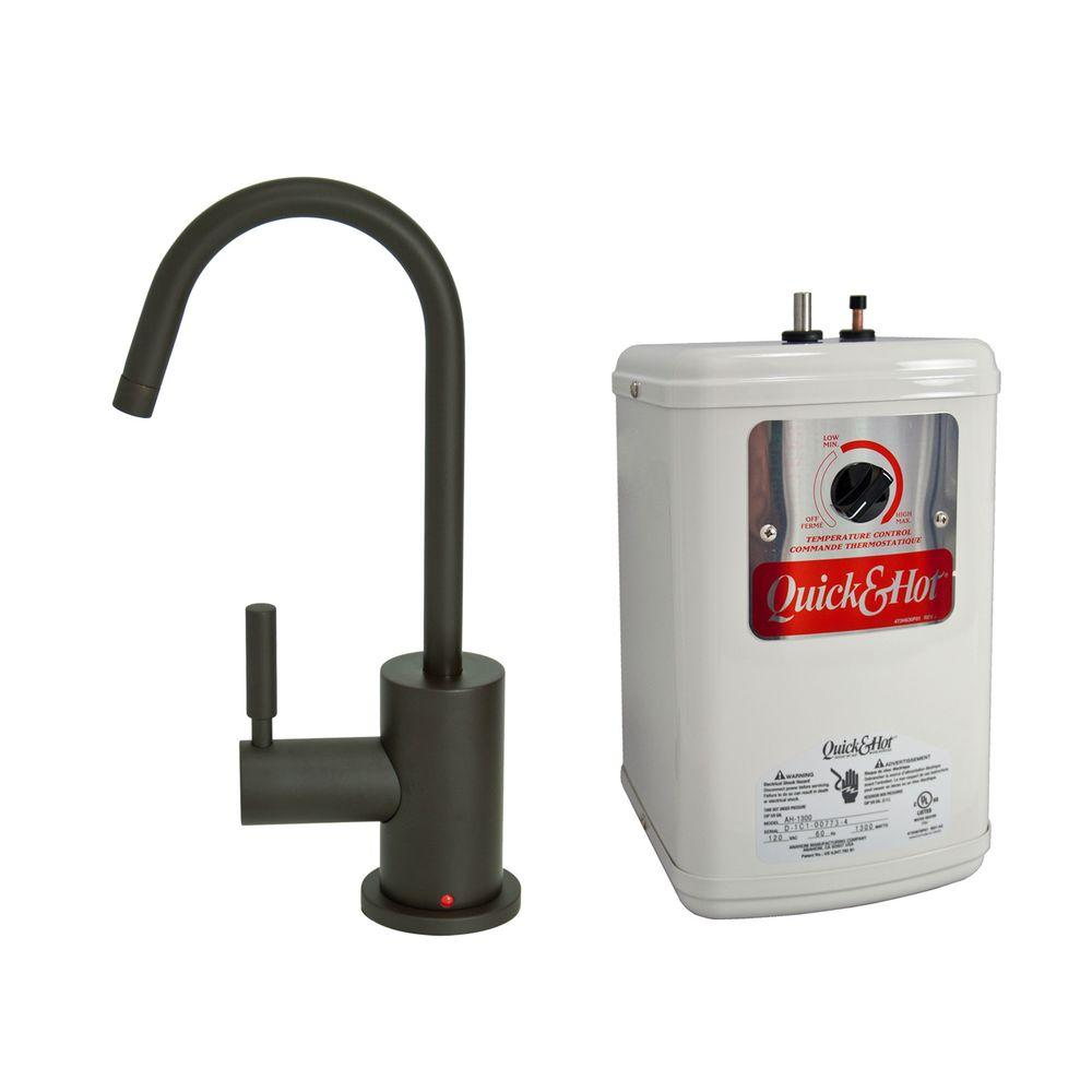 null Single-Handle Hot Water Dispenser Faucet with Heating Tank in Oil Rubbed Bronze