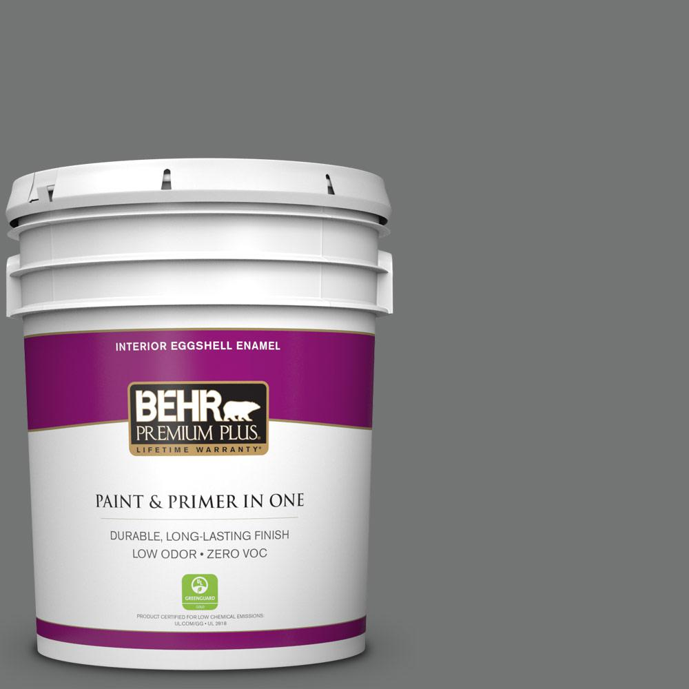 5 gal. #N520-5 Iron Mountain Zero VOC Eggshell Enamel Interior Paint