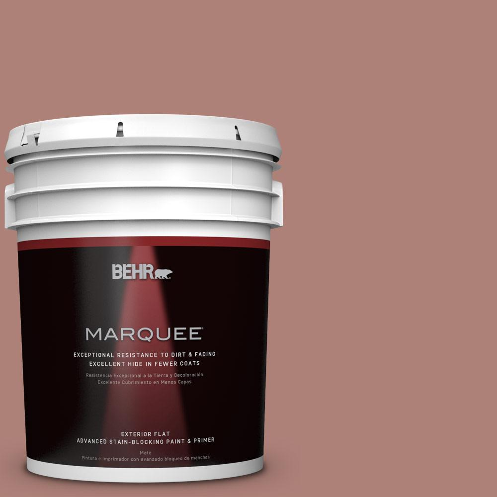 BEHR MARQUEE 5-gal. #S170-5 Smoke Bush Rose Flat Exterior Paint-445405 -