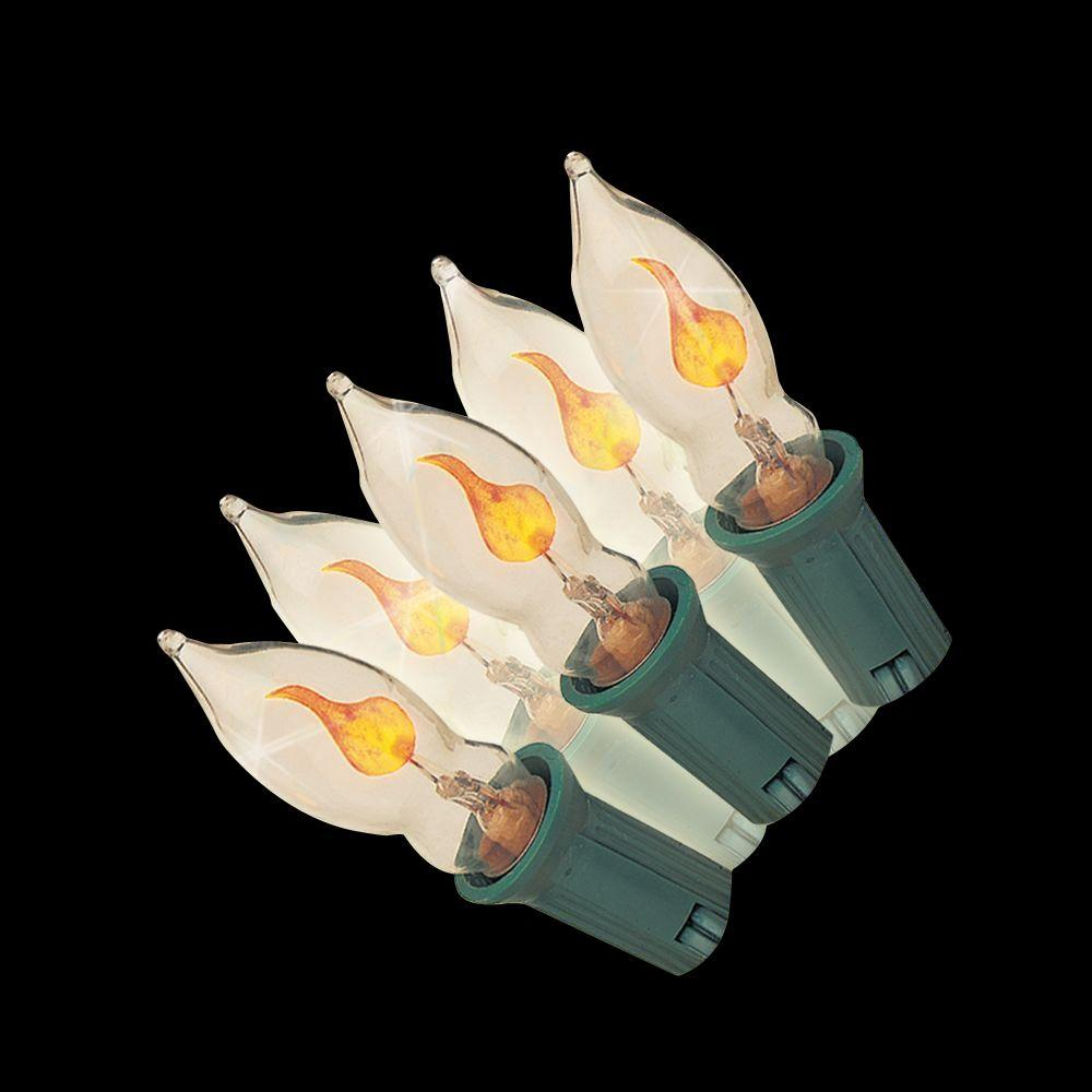 null 7-Light Clear Flicker Flame Light Set (Set of 2)