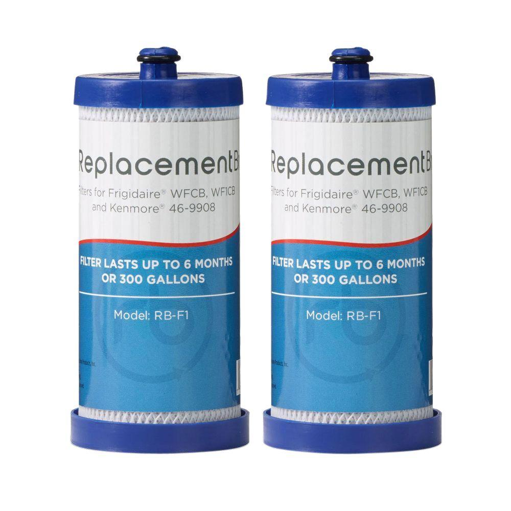 ReplacementBrand Refrigerator Filter Comparable to Whirlpool WFCB/WF1CB (2-Pack)