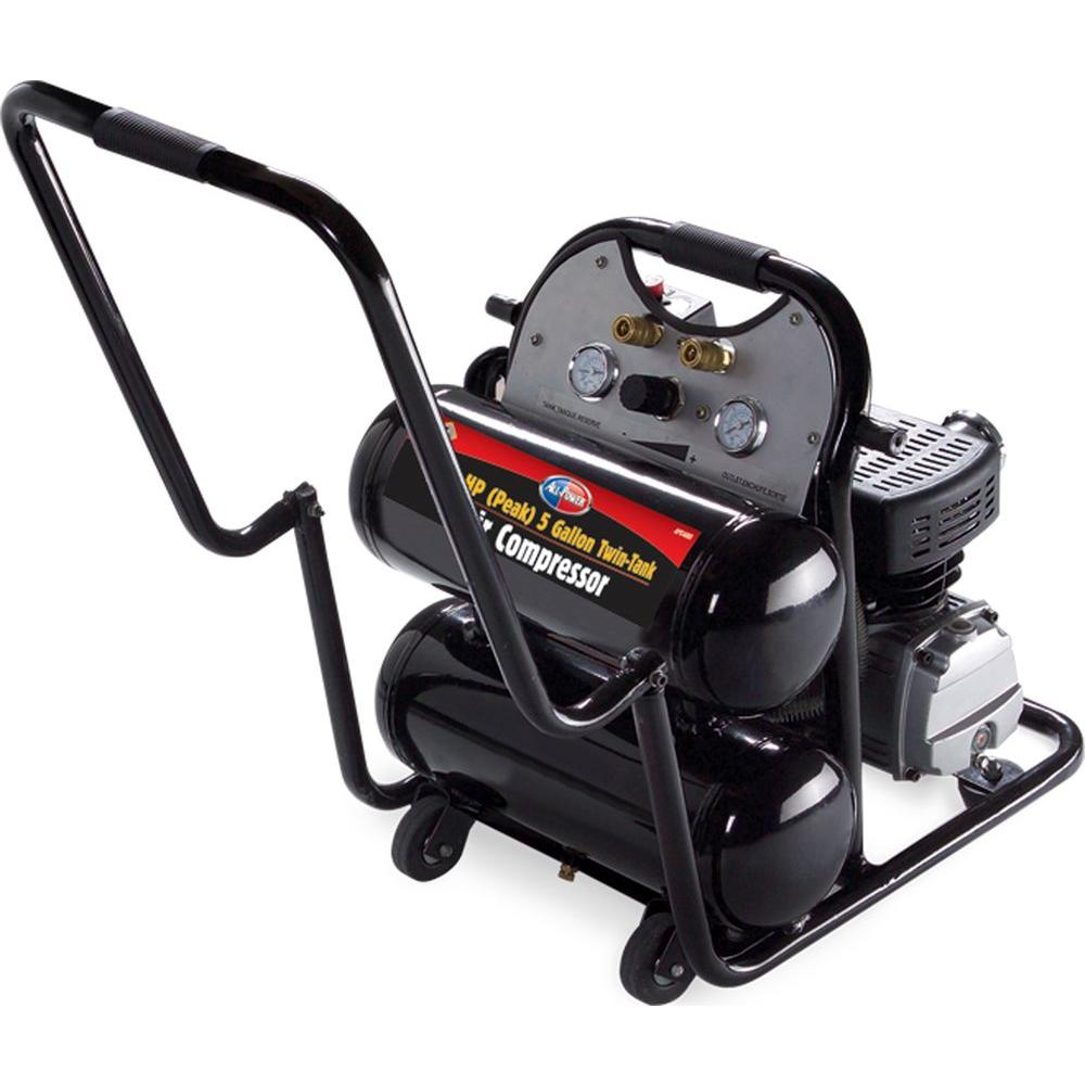null 4.6-Gal. All Power 3.5 HP Peak Mobile Twin Tank Air Compressor-DISCONTINUED