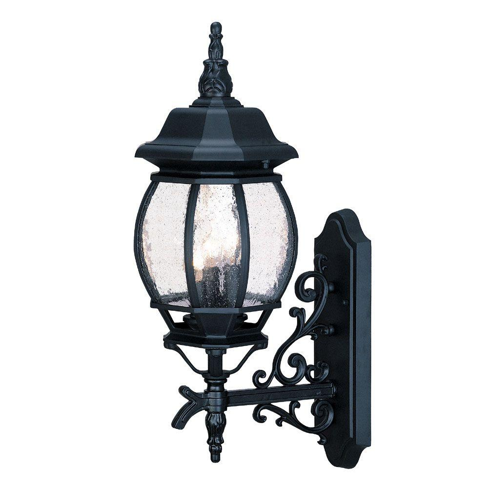 Acclaim Lighting Chateau Collection 1-Light Matte Black Outdoor Wall-Mount Light