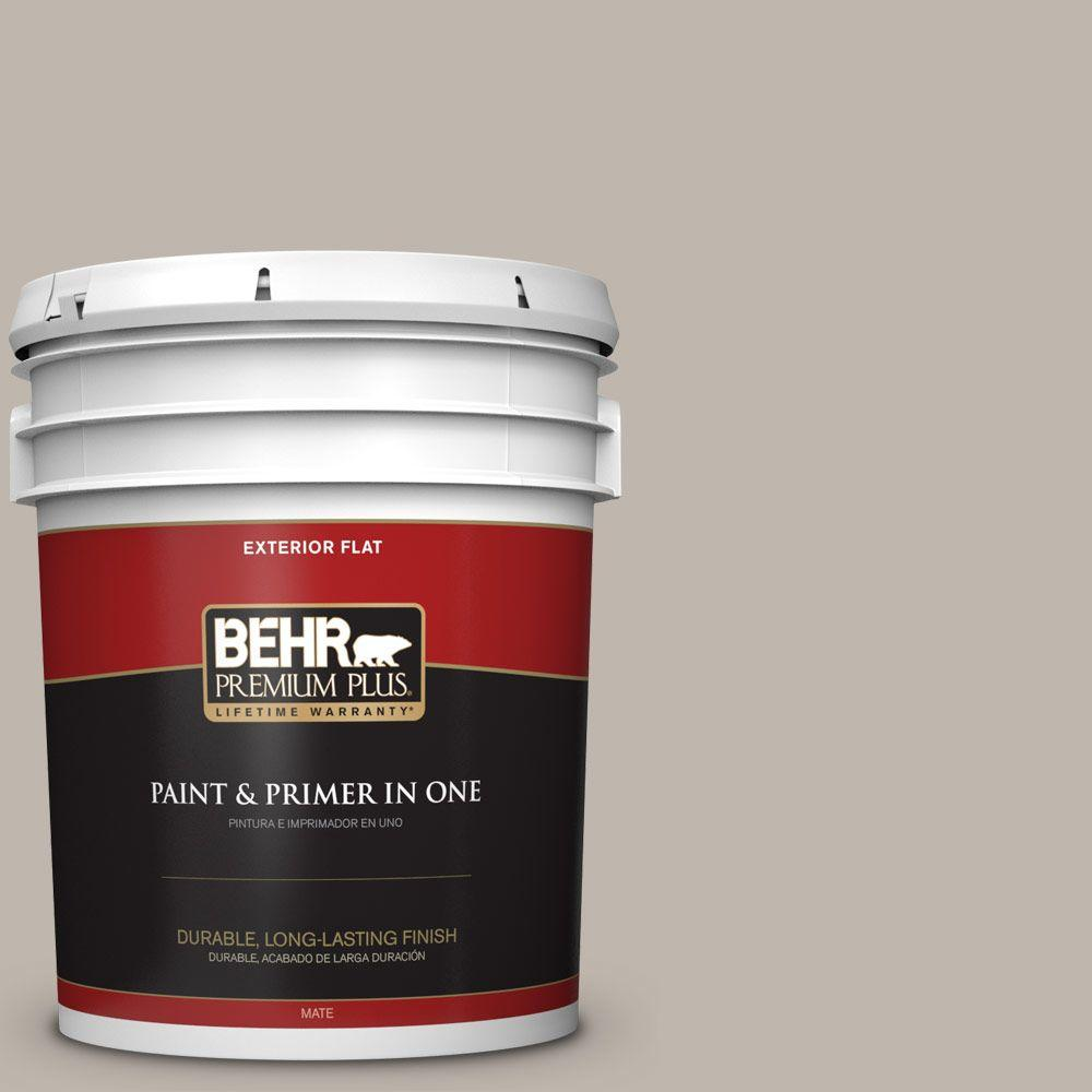 Home Decorators Collection 5-gal. #HDC-CT-21 Grey Mist Flat Exterior Paint