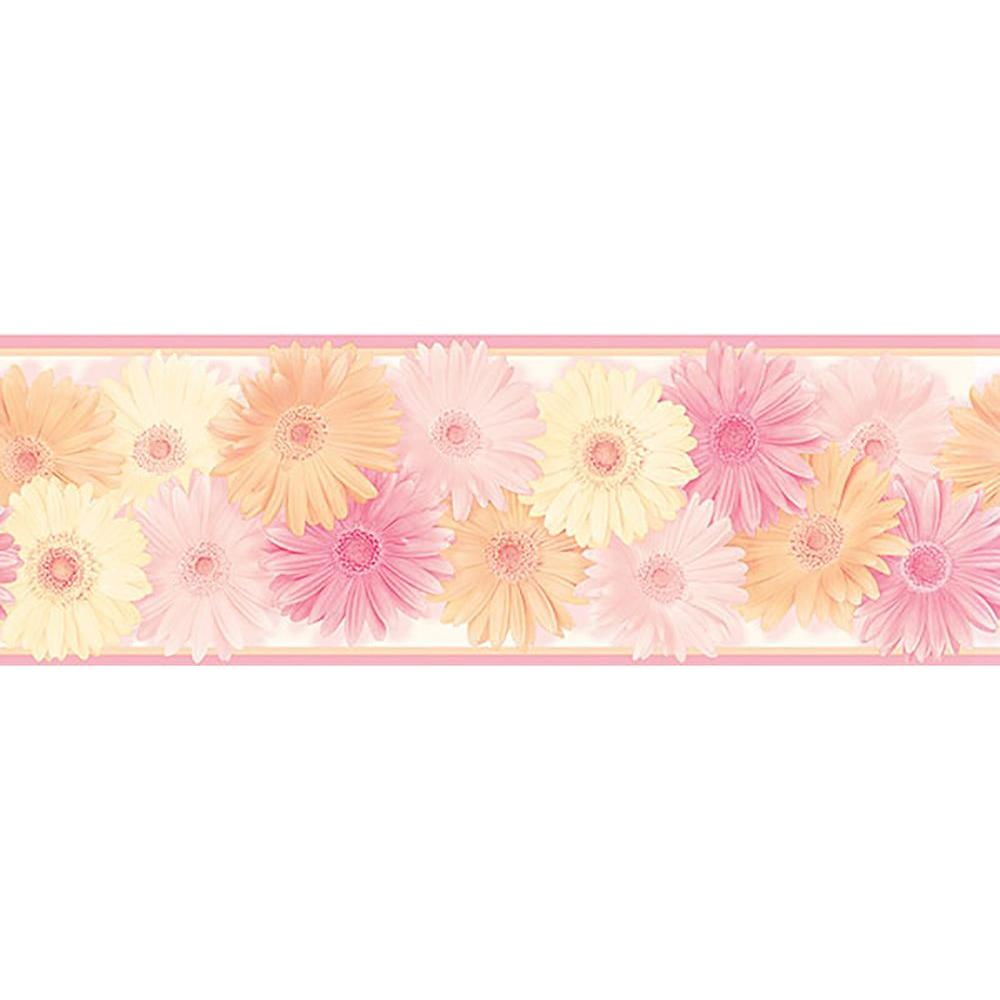 8 in. x 10 in. Becca Pink Daisy Chain Border Sample
