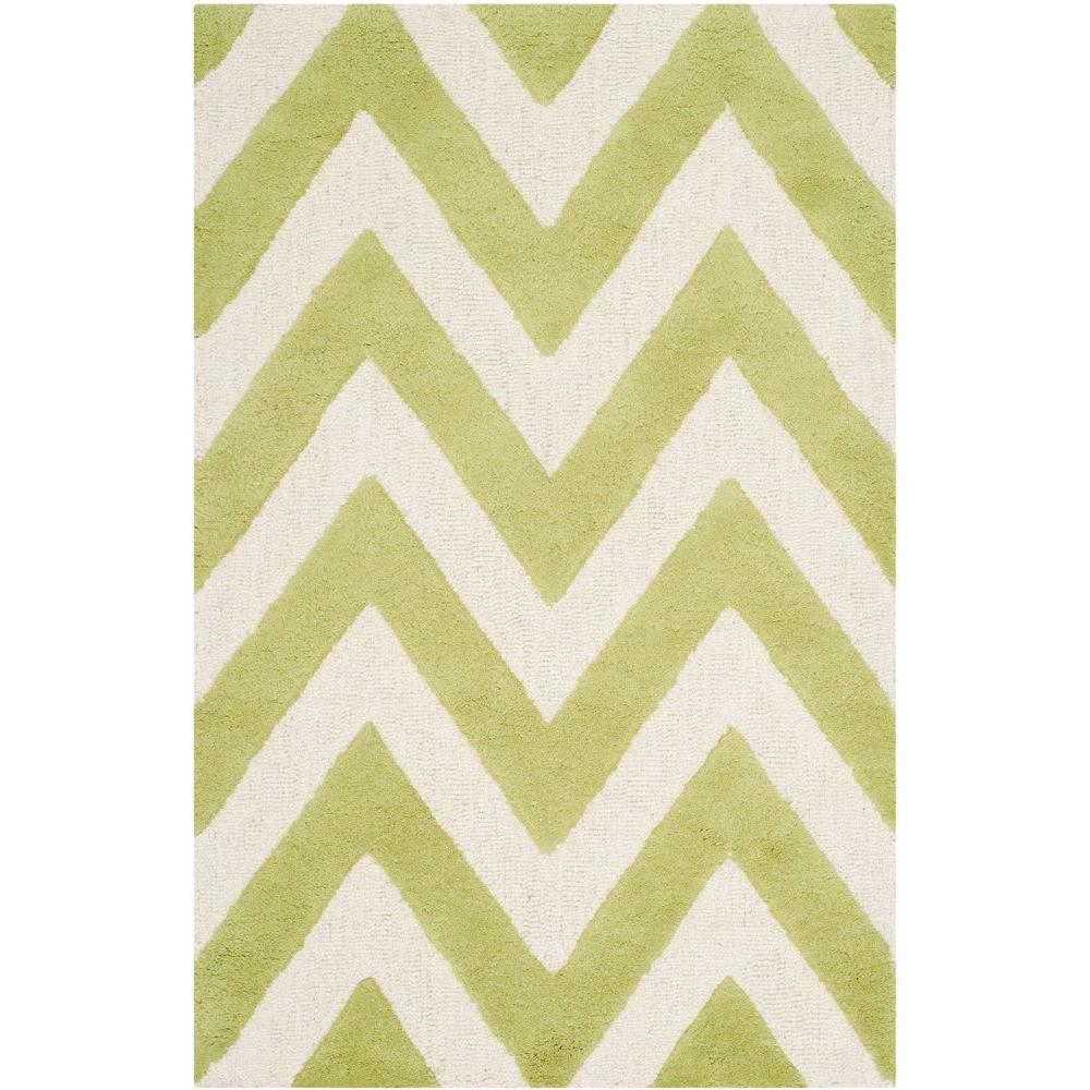 Cambridge Green/Ivory 2 ft. 6 in. x 4 ft. Area Rug