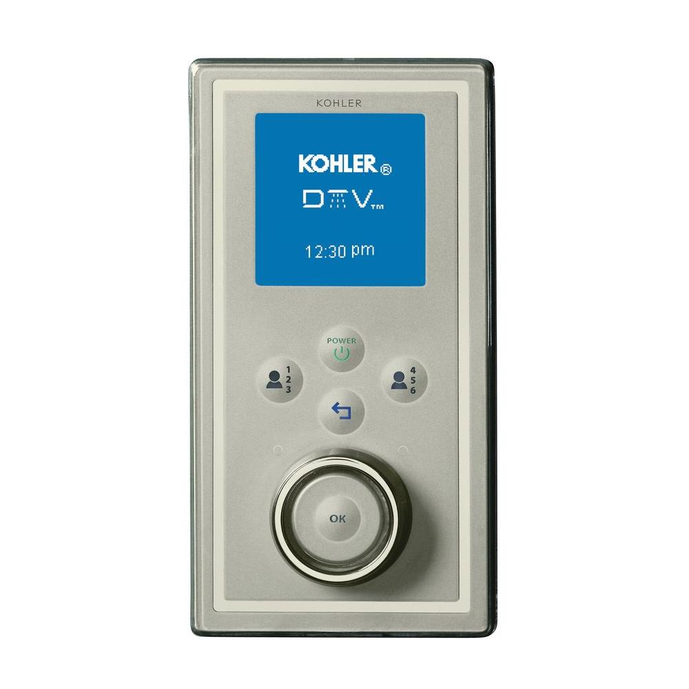 KOHLER DTV II Portrait Digital Interface in Satin Chrome with Polished Chrome Accents
