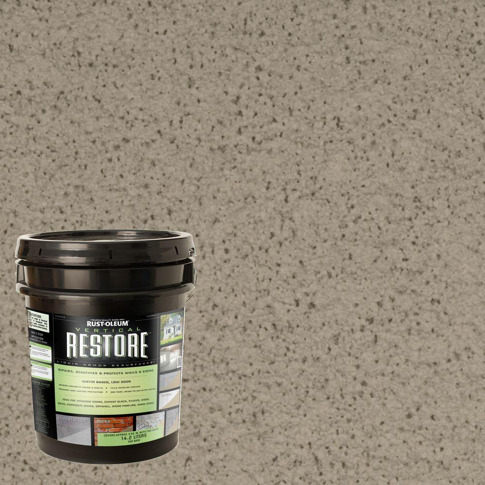 Restore 4 gal. Brownstone Vertical Liquid Armor Resurfacer for Walls and Siding