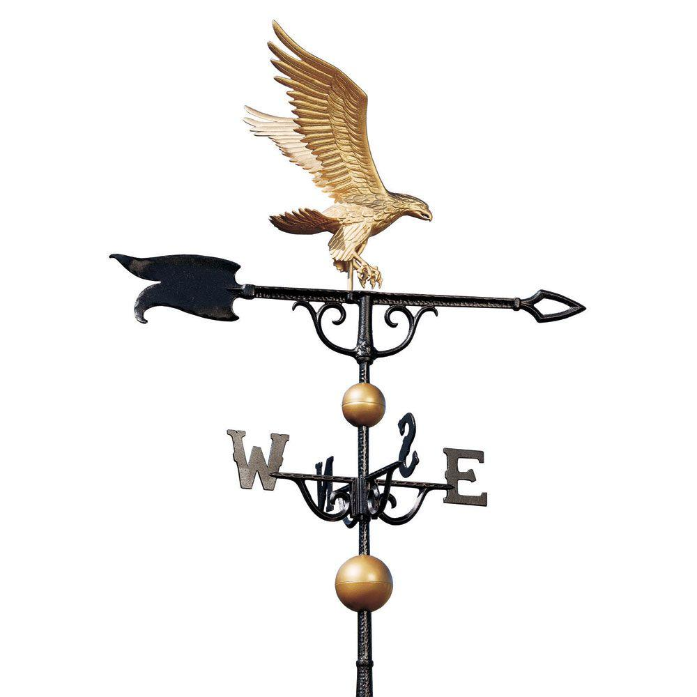 46 in. Gold/Bronze Eagle Weathervane