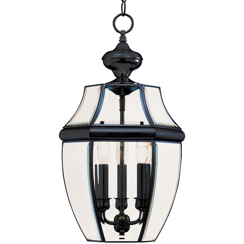 Maxim Lighting South Park 3-Light Black Outdoor Hanging Lantern-6095CLBK - The