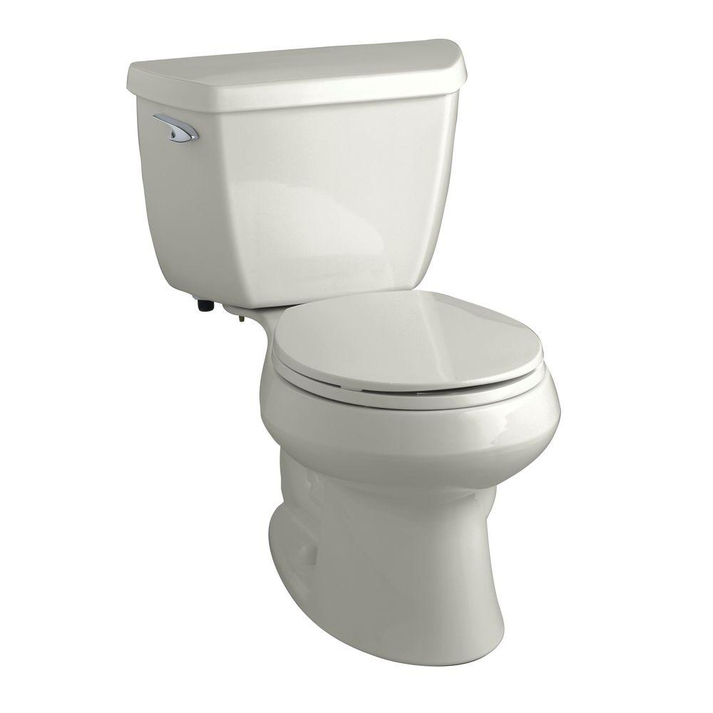 KOHLER Wellworth Classic 2-Piece 1.6 GPF Round Toilet in Ice Grey-DISCONTINUED